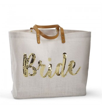 Bride Gold Sequin Tote