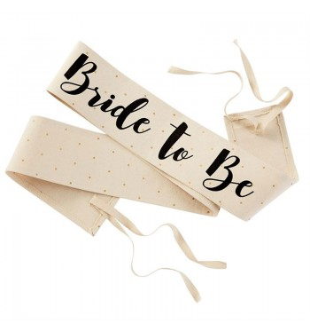 Bride to Be Canvas Wedding Sash