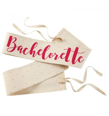 Bachelorette Canvas Wedding Sash