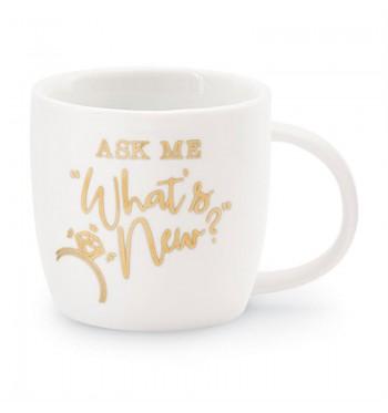 Ask Me Wedding Gold Mug