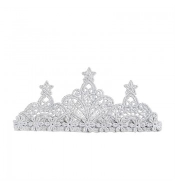 Lace Silver Crown Headband