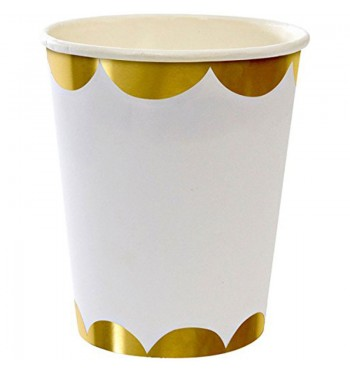 Gold Scalloped Party Cups
