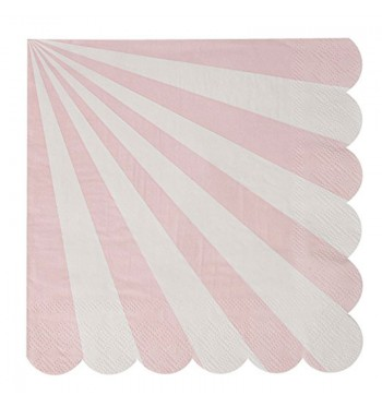 Radial Stripe Pink Luncheon Napkins