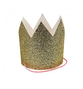 Petite Gold Glitter Crowns