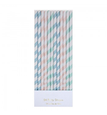 Striped Pastel Party Straws