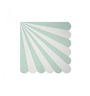 Radial Stripe Aqua/Mint Cocktail Napkins