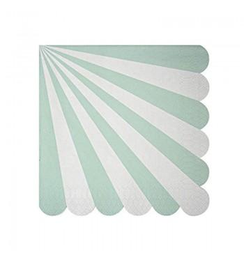 Radial Stripe Aqua/Mint Luncheon Napkins