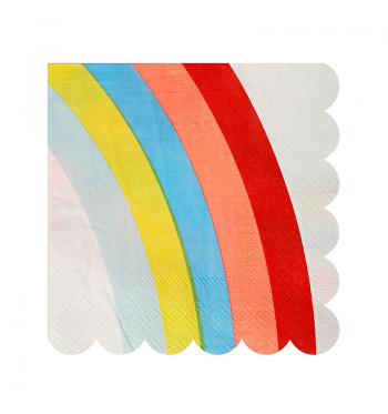 Somewhere Over the Rainbow Scalloped Dessert Napkins