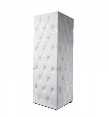 White Tufted Pedestal