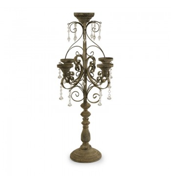 Wrought Iron Candelabra 34in