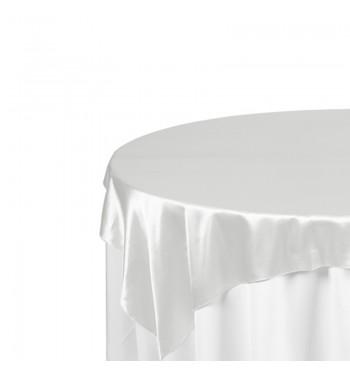 White Matte Satin Overlay