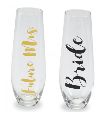 Future Mrs. Bride Stemless Champagne Glasses