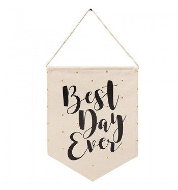 Best Day Ever Canvas Decorative Hanger