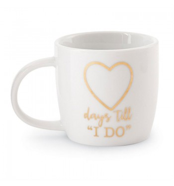 Days Till I Do Look Wedding Gold Mug