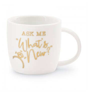 Ask Me Wedding Gold Mug