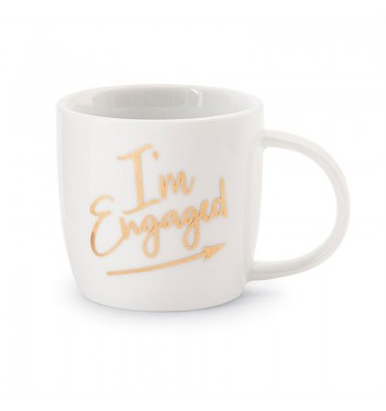 I'm Engaged Look Wedding Gold Mug