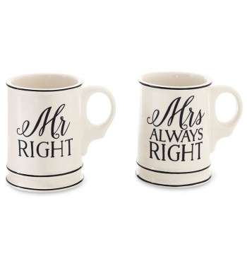 Mr Right & Mrs Always Right Mugs