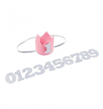 Milestone Pink Crown Headband