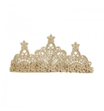 Lace Gold Crown Headband