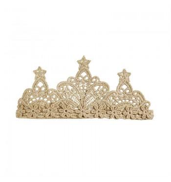Lace Gold Crown Headband