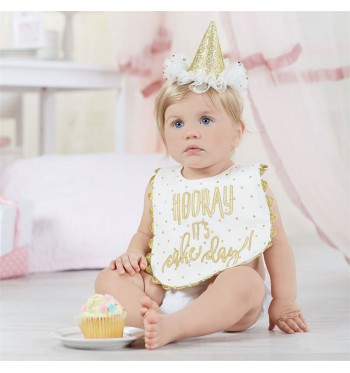 Gold Dots Cake Smashing Set