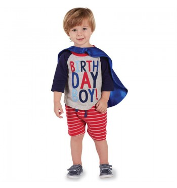 Birthday Boy Shirt & Cape Set