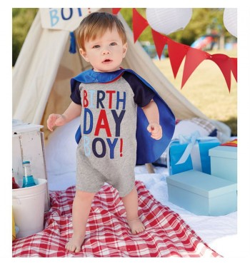 Birthday Boy Cape Romper & Cape Set