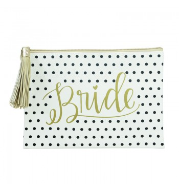 Bride Black Dots Tassel Case