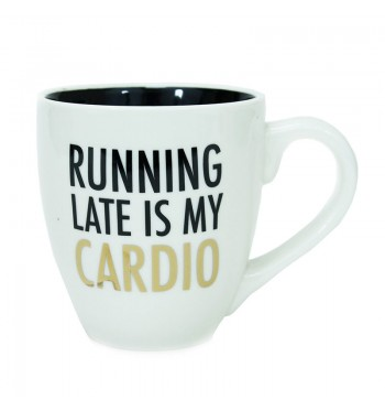 Running Late Ceramic Mug