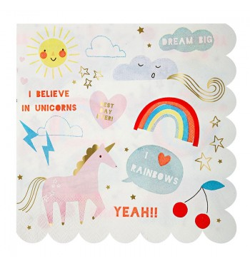 Unicorn Dreams Scalloped Dinner Napkins