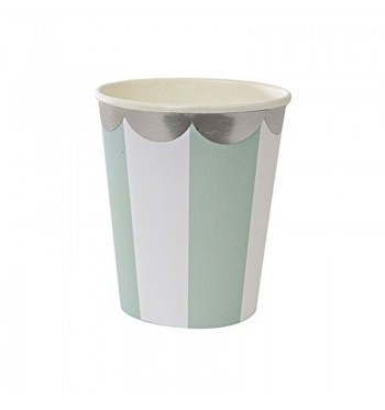 Radial Stripe Mint Party Cups
