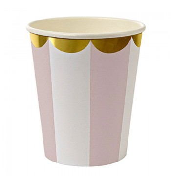 Radial Stripe Pink Party Cups