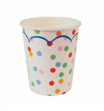 Multicolor Confetti Party Cups