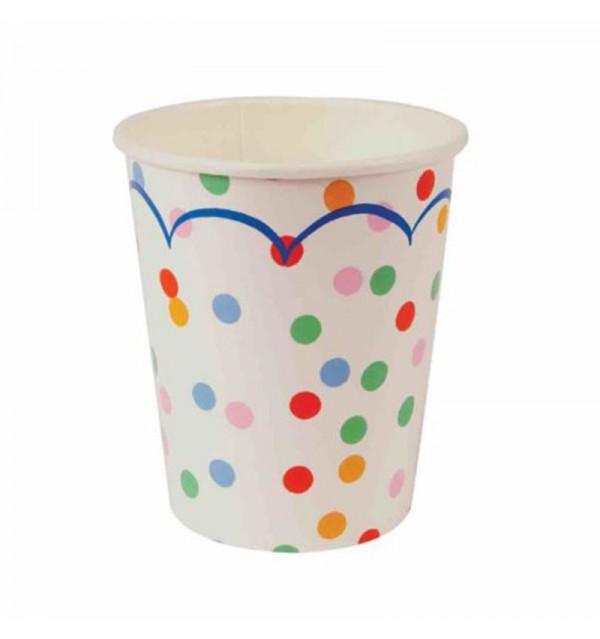 Multicolor Confetti Party Cups
