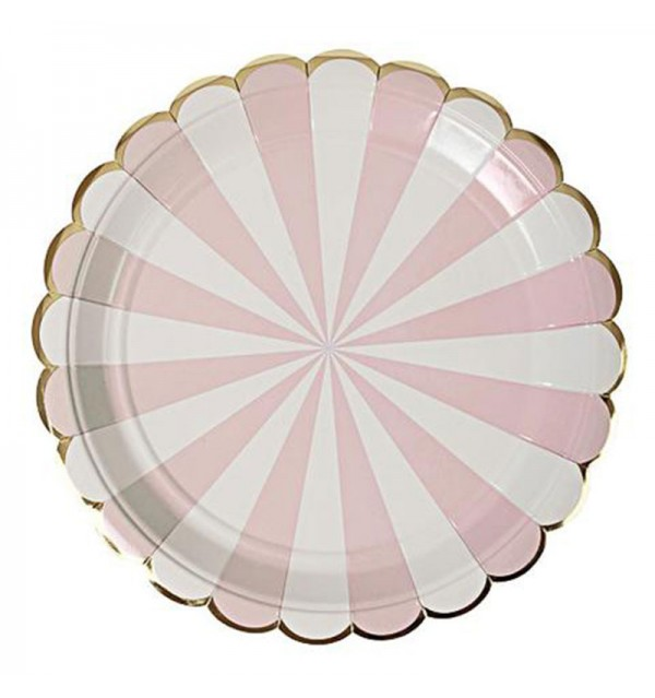 sc 1 st  DreamMakers Events u0026 Party Rentals & Radial Stripe Pink Dinner Plates