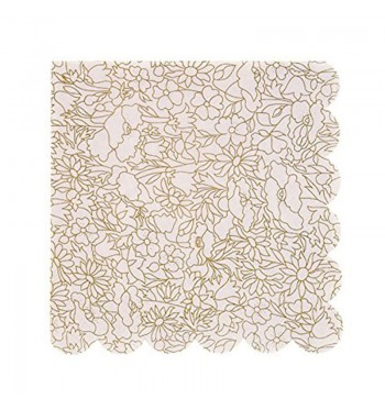 Gold Stylized Pattern Luncheon Napkins