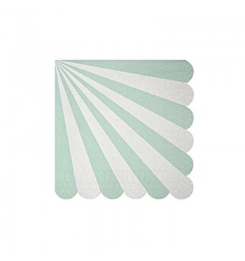 Radial Stripe Aqua/Mint Cocktail Napkins