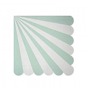 Radial Stripe Aqua/Mint Luncheon Napkins