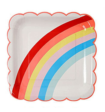 Somewhere Over the Rainbow Scalloped Dinner Plates