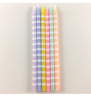 Sweet Striped Party Candles
