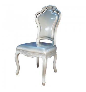 Silver French Baroque Chair