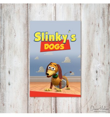 Toy Story Party Food Sign 4 Quot X 6 Quot Slinky