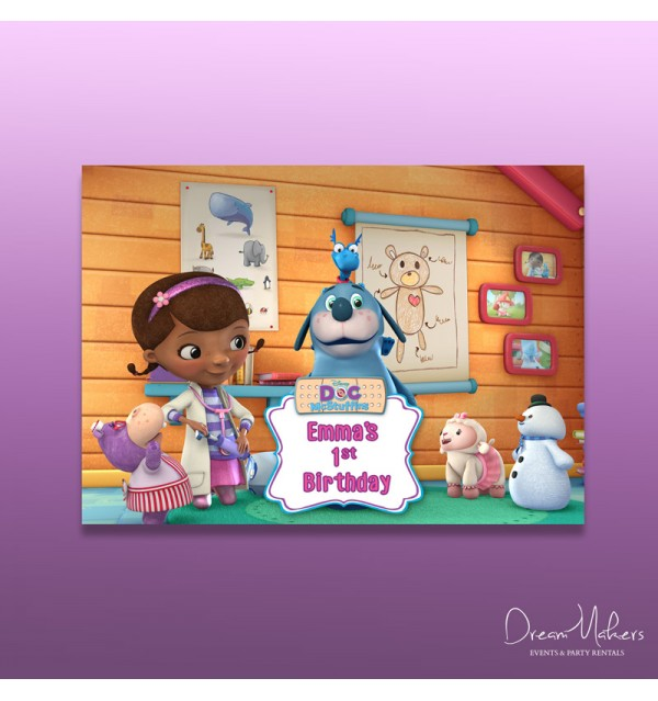 Doc Mcstuffins Party Table Art Number 1 4 X 6 Or 5 X 7