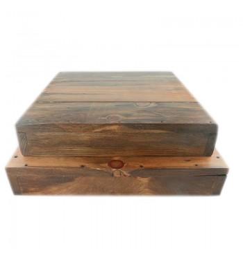 Rustic Wood Square Riser Small and Medium