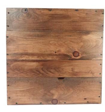 Rustic Wood Square Riser Medium