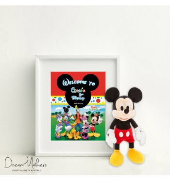 Mickey Mouse Clubhouse Party Welcome Sign / Room Art 11\