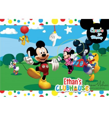 Mickey Mouse Clubhouse Party Table Art Number 1 5 X 7