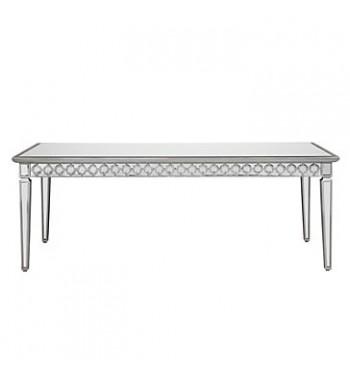 Mirrored Metallic Silver Table