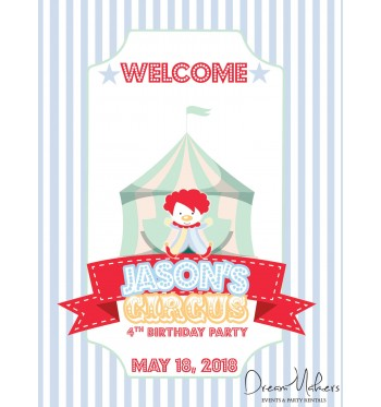 Circus Carnival Party Welcome Sign / Room Art 11\
