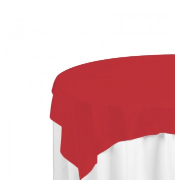 Red Polyester Overlay